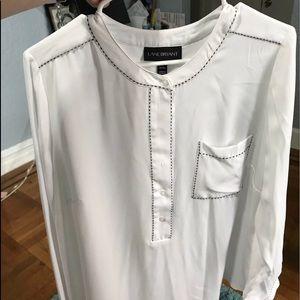 White blouse Sz 14/16 by lane Bryant